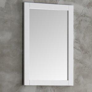 Gray Wall Mirror bathroom mirrors | birch lane