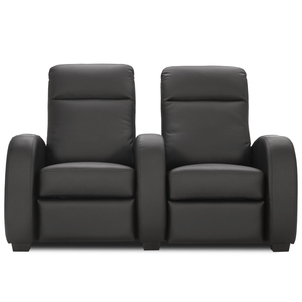 Phenomenal Leather Home Theater Loveseat Row Of 2 Dailytribune Chair Design For Home Dailytribuneorg