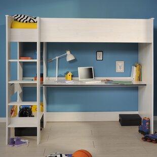 Abdullah European Single High Sleeper Bed with Shelves by Viv   Rae