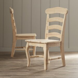 Toby French Country Solid Wood Dining Chair (Set of 2)