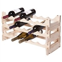 18 Bottle Floor Wine Bottle Rack