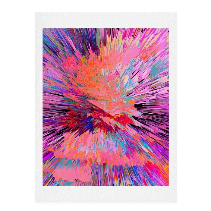 U0027Colour Explosion Iu0027 Vertical Wall Art. U0027