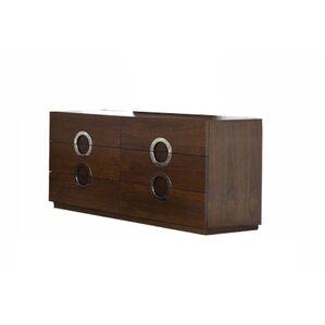 Salia 6 Drawer Double Dresser by Orren Ellis