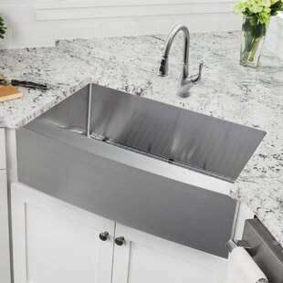36 L X 20 75 W A Front Single Bowl Stainless Steel Kitchen Sink With Faucet