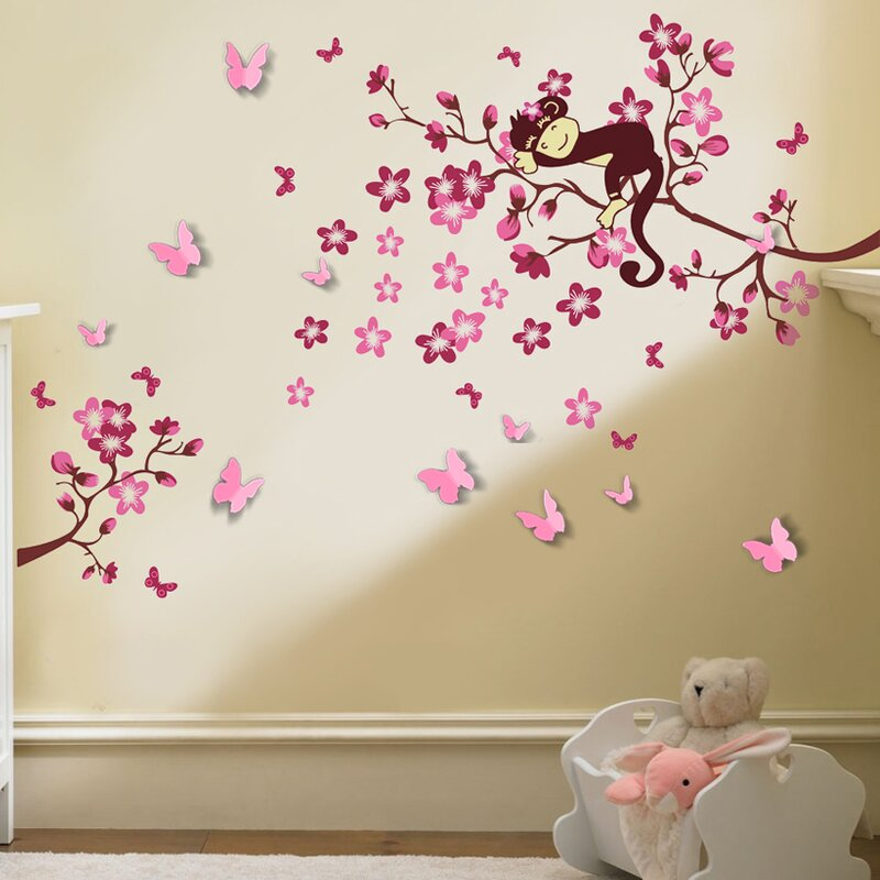 Walplus 3d Monkey Wall Decal Reviews Wayfair