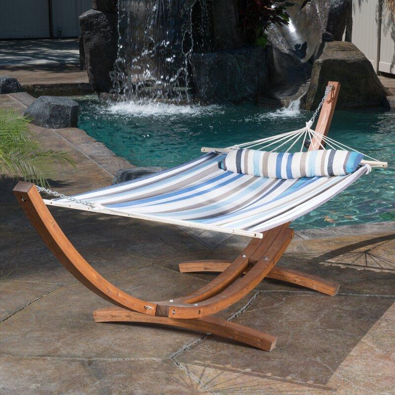 kouklia canvas hammock with stand bay isle home kouklia canvas hammock with stand  u0026 reviews   wayfair  rh   wayfair