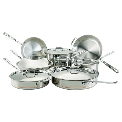 Copper Core 14 Piece Cookware Set All-Clad