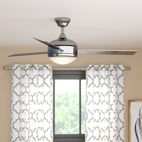 "Kitchen Ceiling Fans With Bright Lights: 48"" Dennis 3-Blade Ceiling Fan & Reviews"