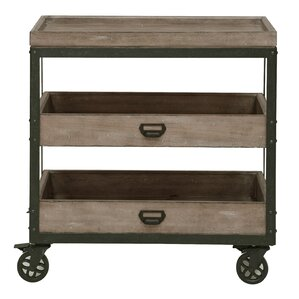 Fort Oglethorpe Kitchen Cart with Wood To..