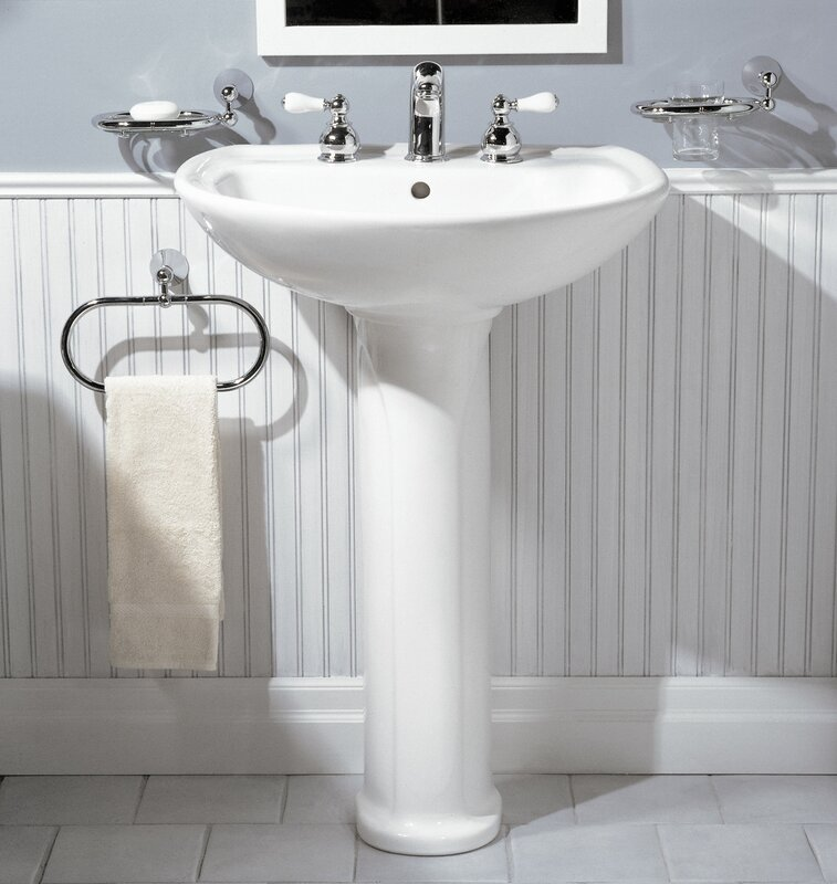 Cadet Ceramic 25  Pedestal Bathroom Sink with Overflow. American Standard Cadet Ceramic 25  Pedestal Bathroom Sink with