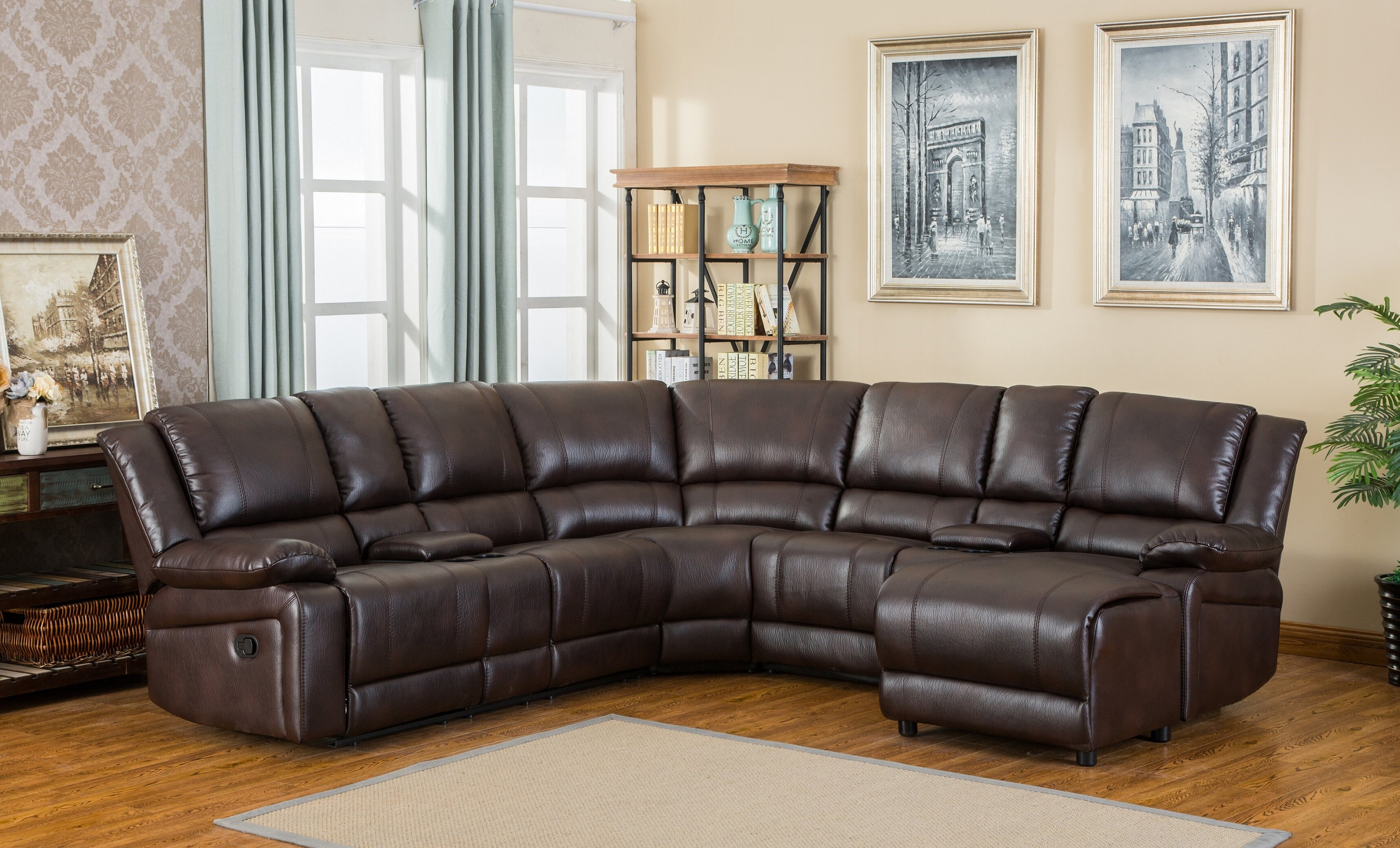 collection leather legacy sectional product recliner