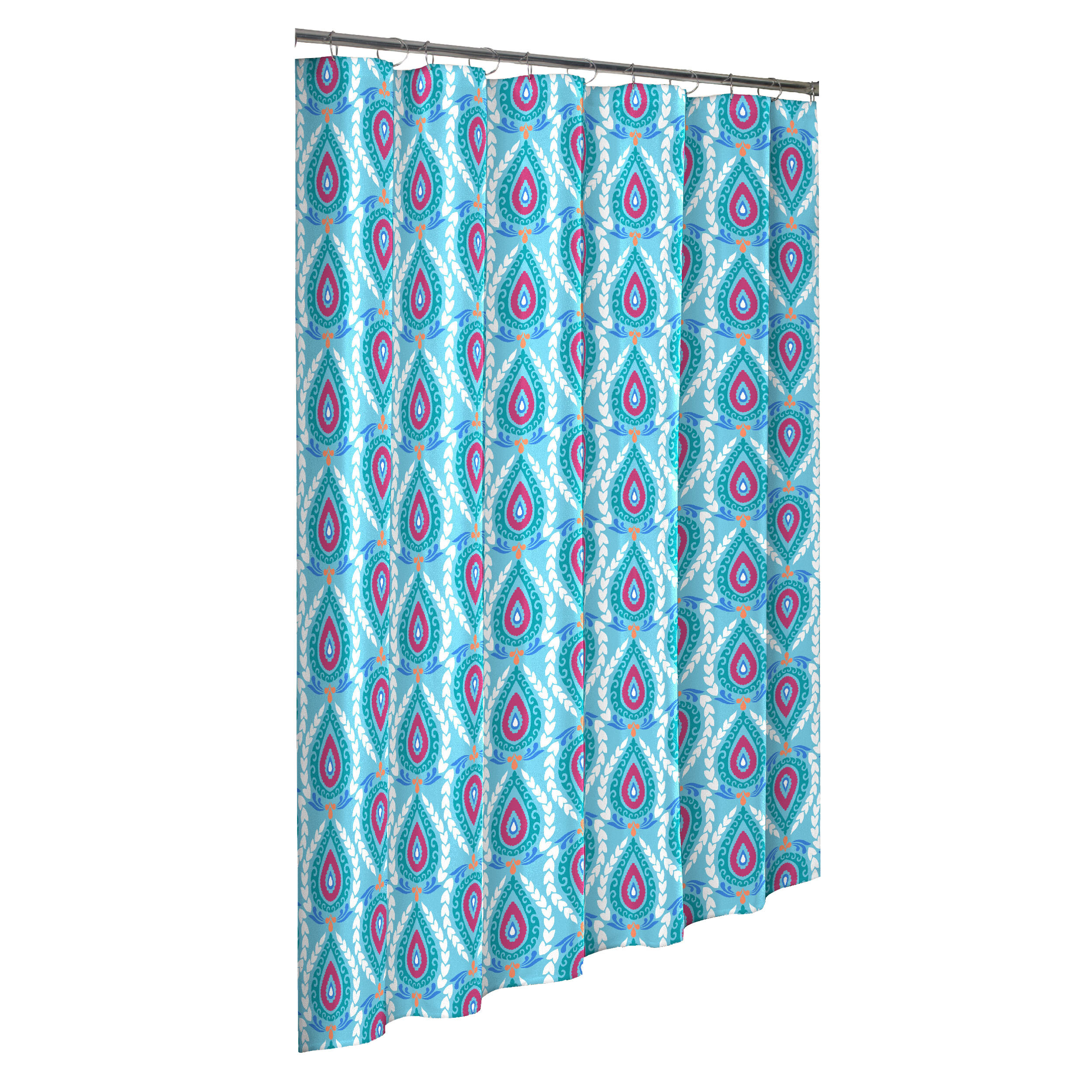Bungalow Rose Tanisha Boho Boutique Cotton Shower Curtain