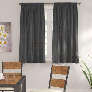 Alisa Solid Semi-Sheer Rod Pocket Curtain Panels (Set of 2)