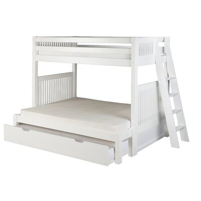 Oakwood Twin over Full Bunk Bed with Trundle Harriet Bee
