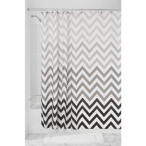 black white chevron shower curtain. Ombre Chevron Shower Curtain Curtains You ll Love  Wayfair