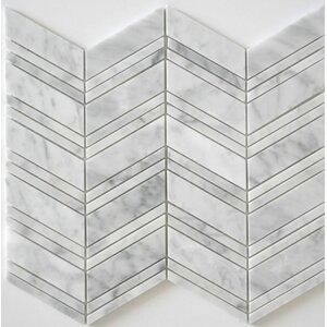 Polished Random Sized Mosaic Tile in Bianco Carrara
