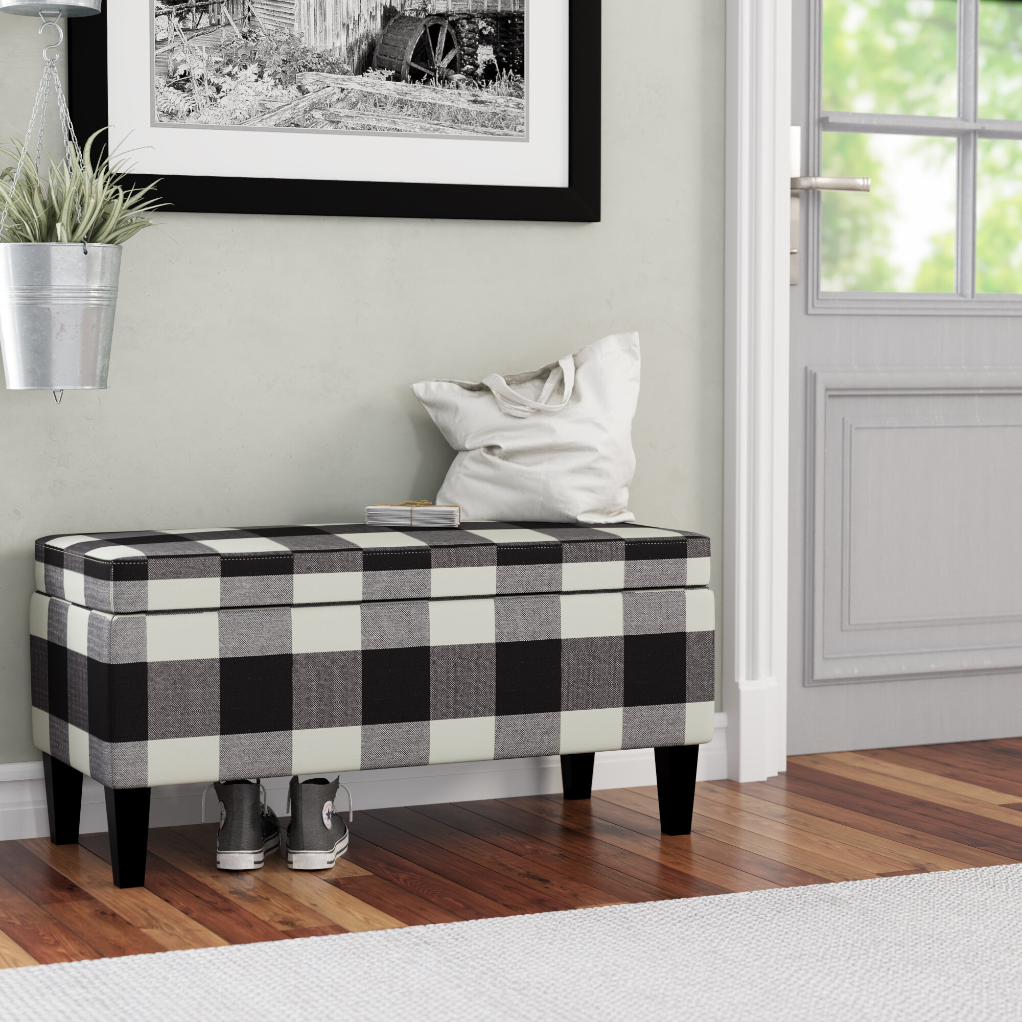 August Grove Shetye Decorative Upholstered Storage Bench Reviews Wayfair