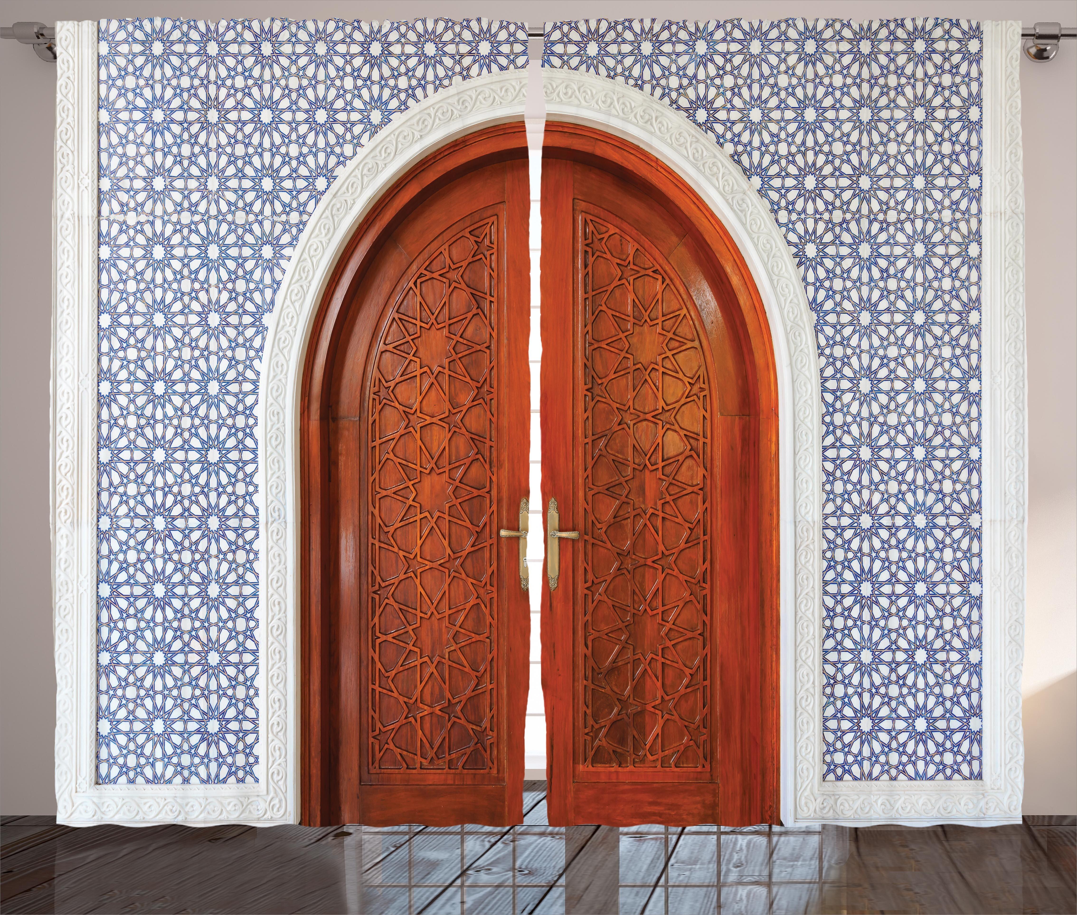 Red Barrel Studio Williston Moroccan Antique Wooden Door of Asian ...