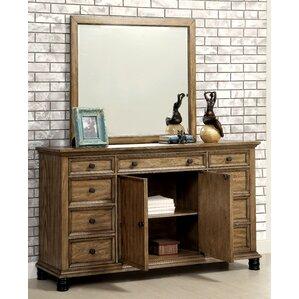 Zebadiah 9 Drawer Dresser with Mirror by Gracie Oaks