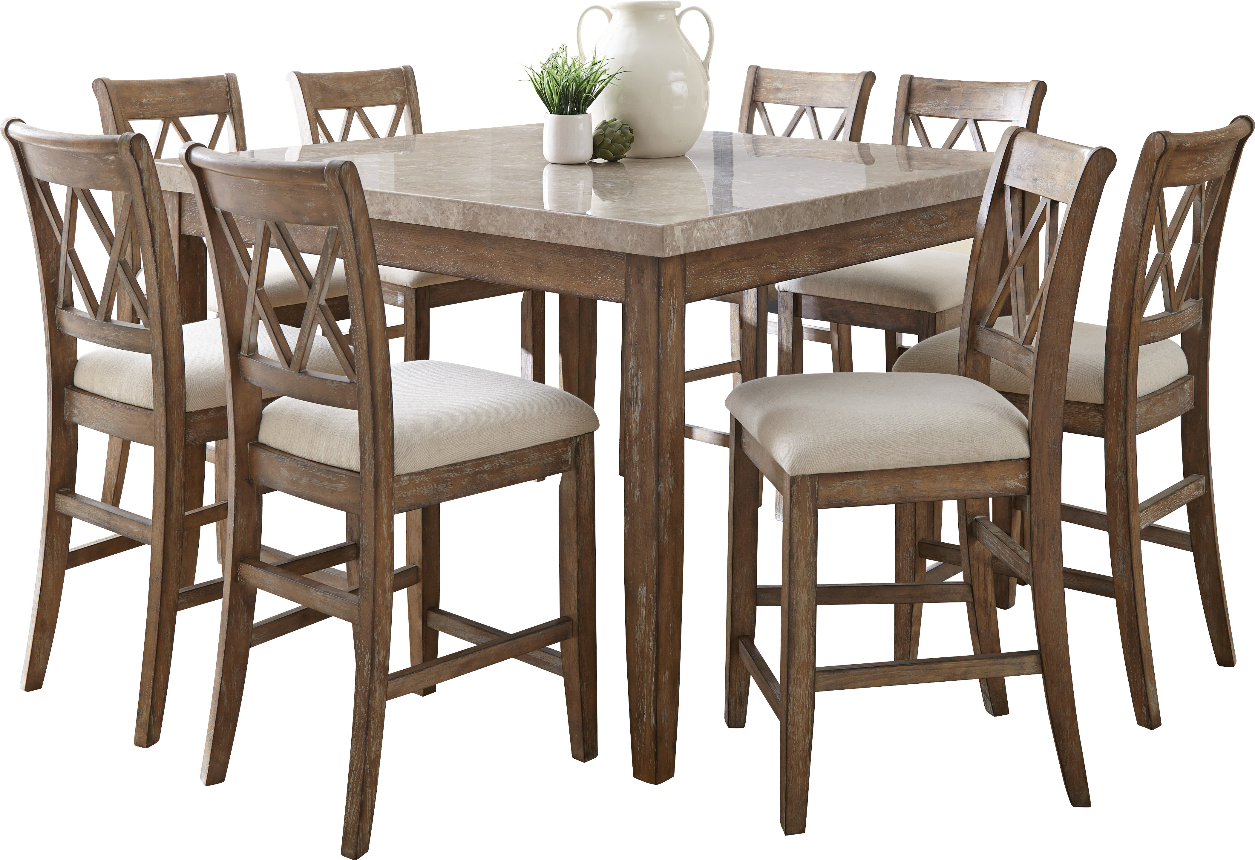 Portneuf counter height dining table reviews joss main