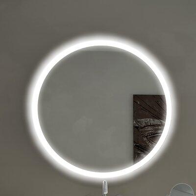 Round Backlit Bathroom Vanity Wall Mirror