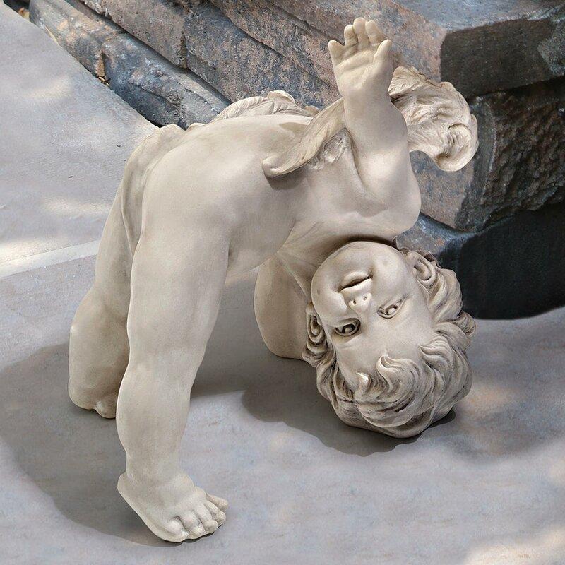 Design Toscano Turvey Tumbling Cherub Statue Amp Reviews