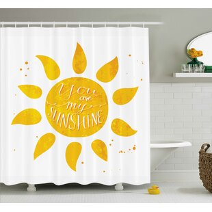Sunshine Quotes Decor Shower Curtain
