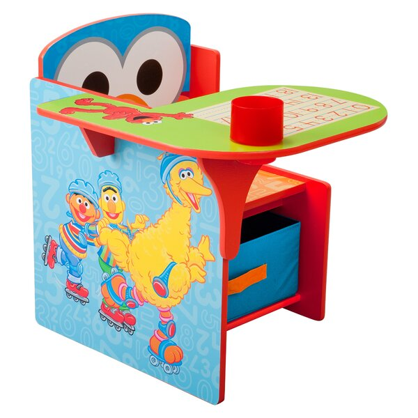 Delta Children Sesame Street Kids Desk Chair With Storage Compartment And  Cup Holder U0026 Reviews | Wayfair