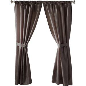 wayfair basics solid semisheer rod pocket bathroom curtain panels set of 2