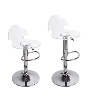 Stanhope Contemporary Adjustable Height Swivel Bar Stool (Set of 2)