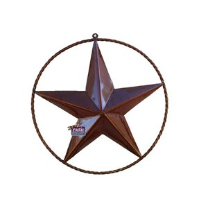 Rustic Star with Rope Ring Wall Du00e9cor