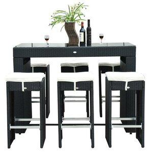 Haddox 7 Piece Bar Set With Cushions