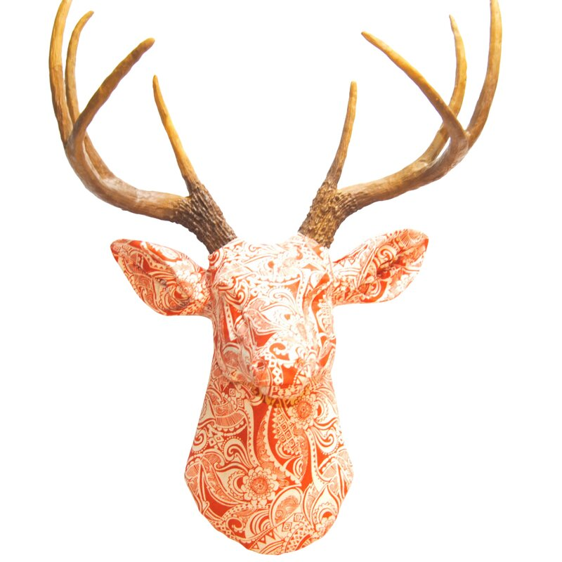 Faux Taxidermy Fabric Deer Head Wall Décor