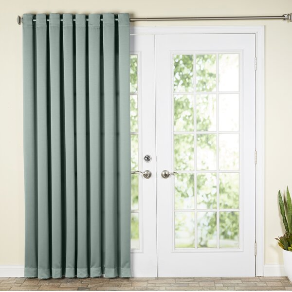 Wayfair Basics™ Wayfair Basics Solid Room Darkening Grommet Single Patio  Curtain Panel U0026 Reviews | Wayfair