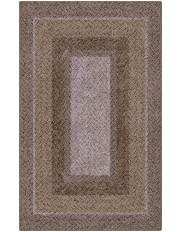 Winston Porter Areli Braided Printed Brown Area Rug, Size: Rectangle 76 x 10