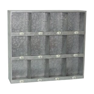 Galvanized 12 Hole Wall Cubby