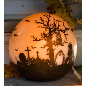 halloween glowing luminary globe - Pics Of Halloween Decorations