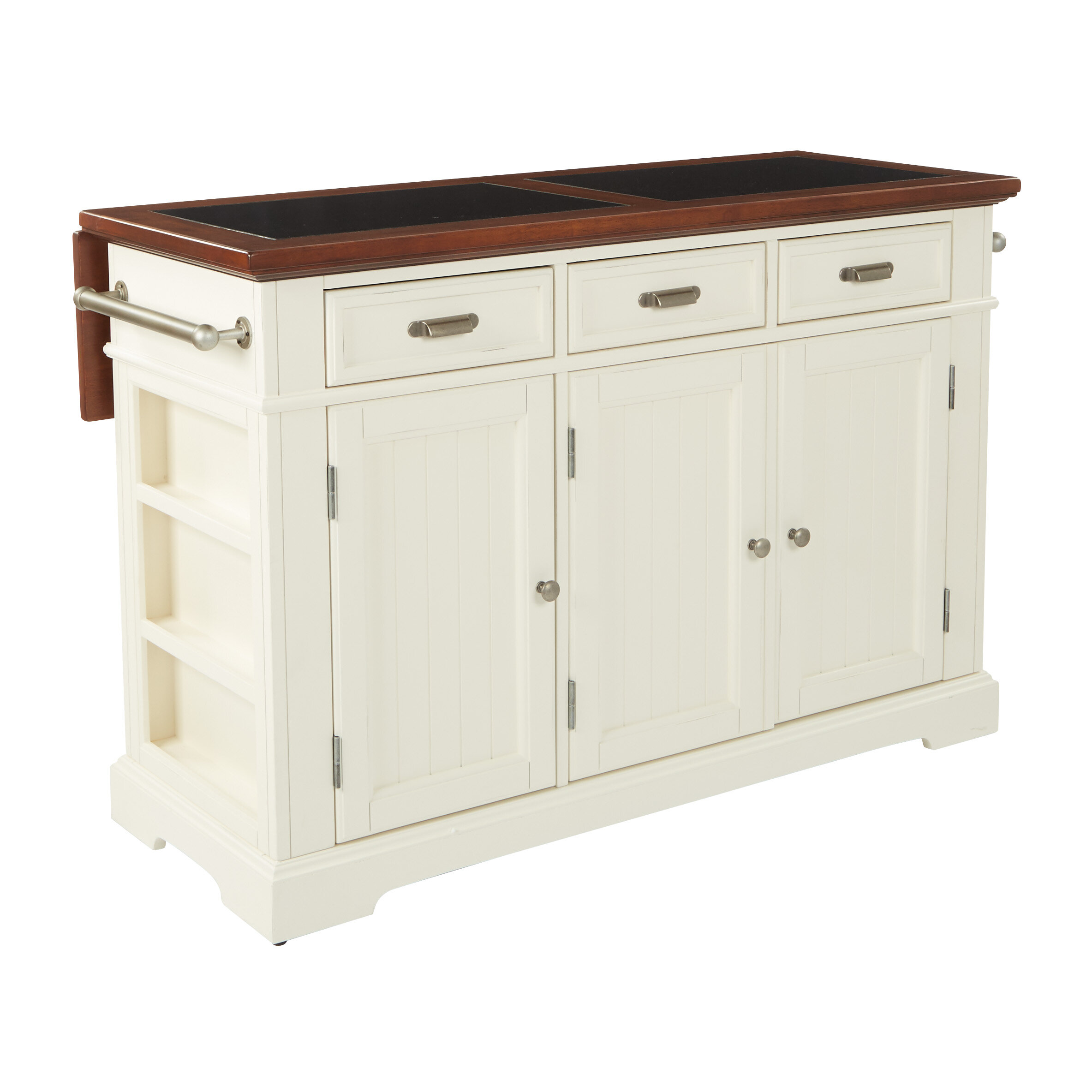 Large Kitchen Islands With Granite Top August Grove Cintron Large Kitchen Island with Granite Top u0026 Reviews |  Wayfair