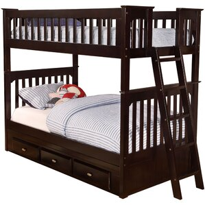 braeburn twin over twin bunk bed with storage drawers