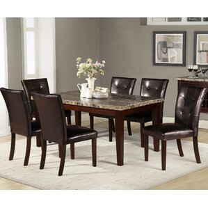 Marble Kitchen  Dining Tables Youll Love Wayfair - Marble dining room table