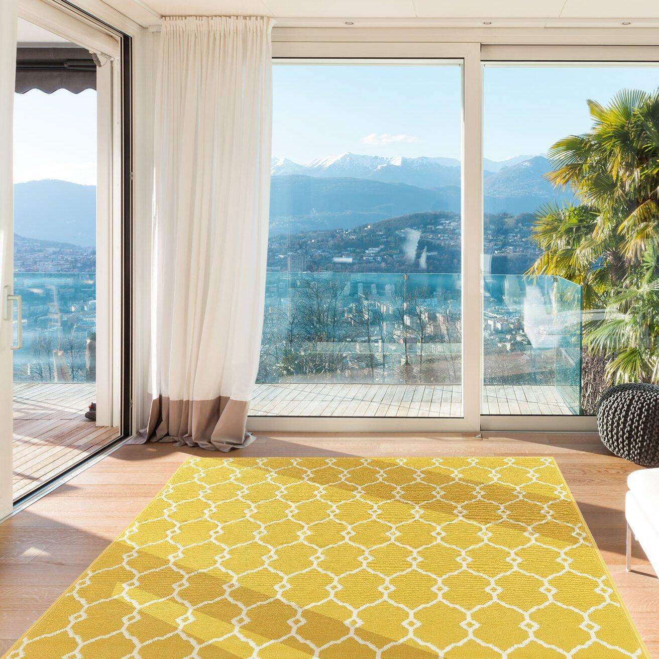 floorita innen au enteppich vitaminic in gelb. Black Bedroom Furniture Sets. Home Design Ideas