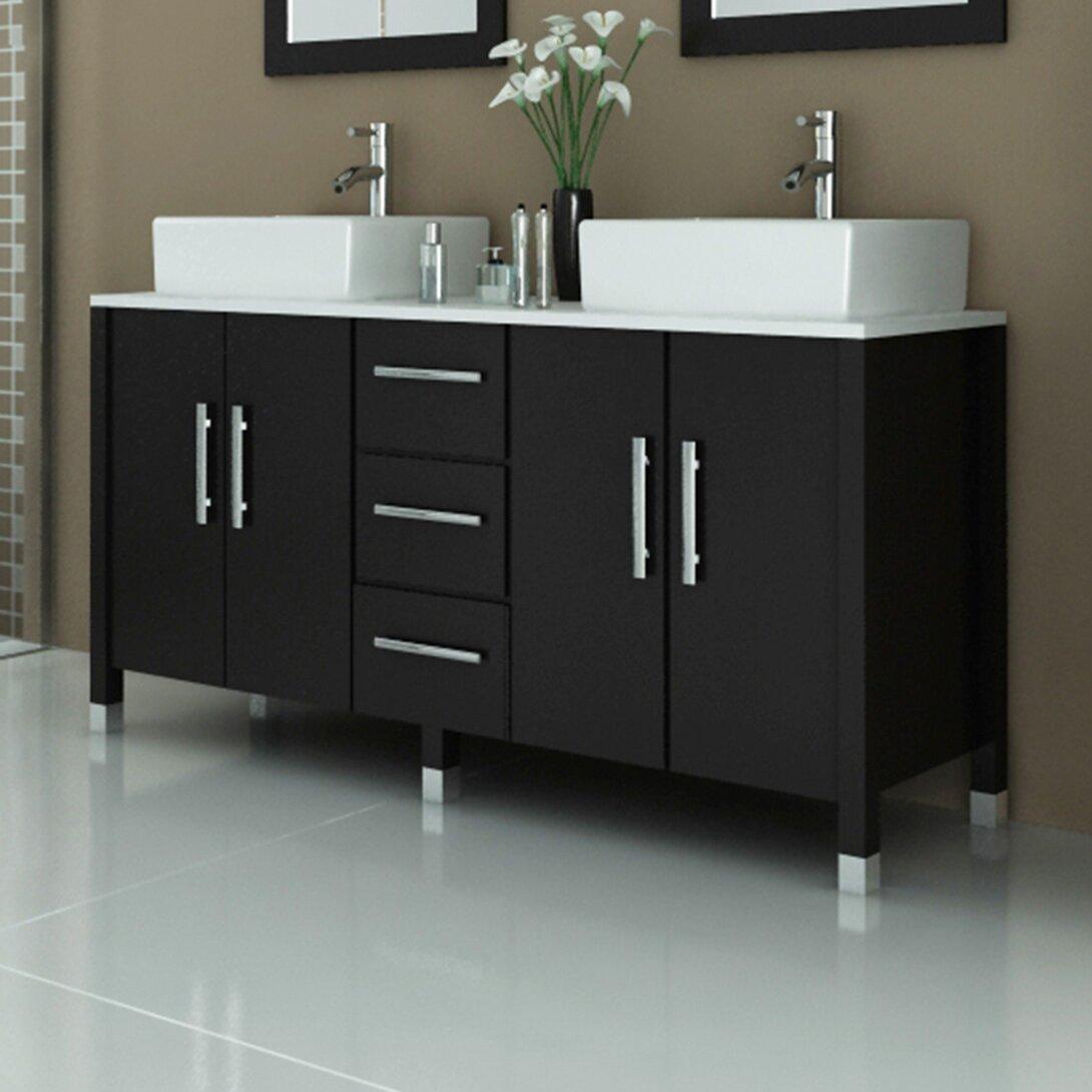 Jwh Living Sirius 59 Double Bathroom Vanity Set Reviews