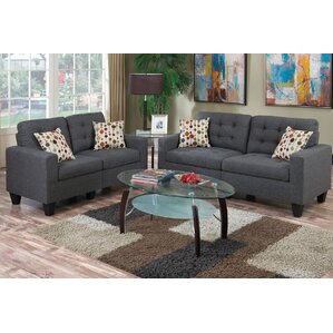 Wonderful Amia 2 Piece Sofa And Loveseat Set