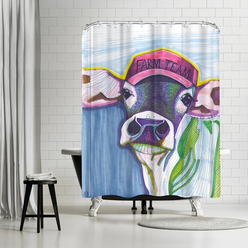 Solveig Studio Farm Team Cow Shower Curtain