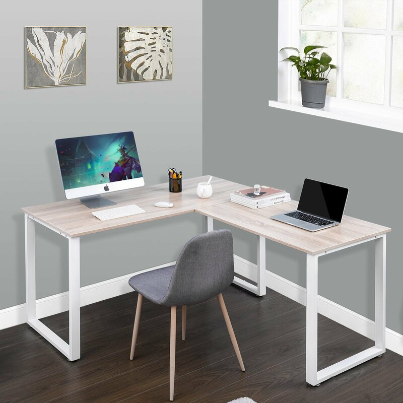Computer furniture design Lunch Table Lshape Computer Desk Wanbest Merax Lshape Computer Desk Reviews Wayfair