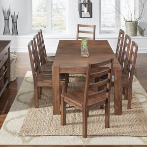 Johnston 9 Piece Dining Set by Loon Peak