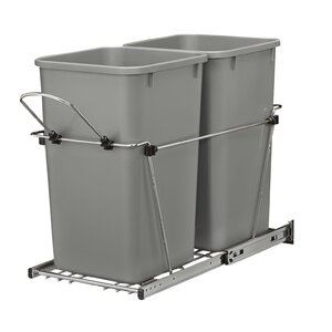 Double Roll 6.7 Gallon Pull Out Trash Can