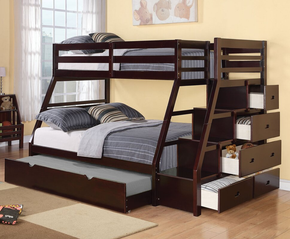 Bunk Beds With Storage viv + rae reece twin over full bunk bed with storage ladder and