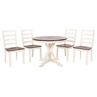 Kaster 5 Piece Solid Wood Dining Set
