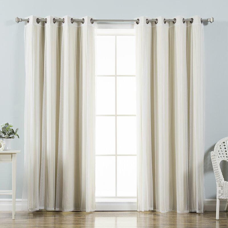 Brunilda Solid Blackout Thermal Grommet Curtain Panels